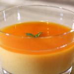 柿プリンとトロトロ柿ソース
