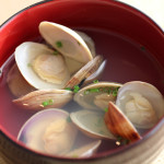 Osuimono ~Clear soup~ with pasta clams